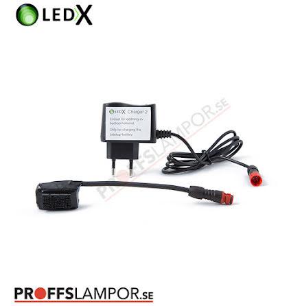Tillbehör Backupbatteri med laddare LEDX
