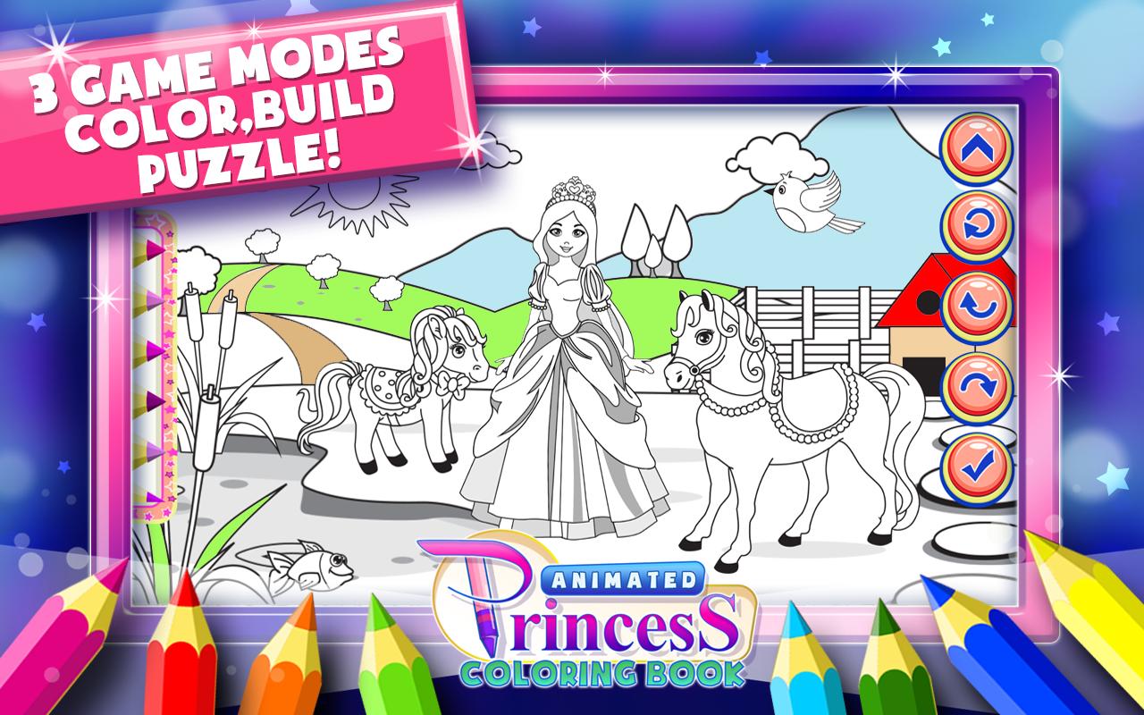 princess coloring book games screenshot - Coloring Book Games