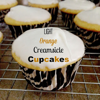 Light & Fluffy Orange Creamsicle Cupcakes