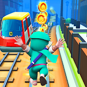 3D Subway Ninja Hat Surf Tori Fight