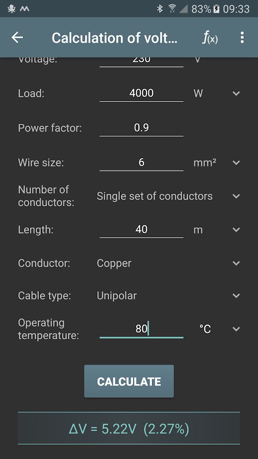 Electrical calculations android apps on google play electrical calculations screenshot greentooth Images