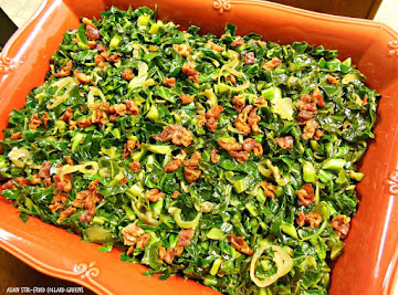 Asian Stir-fried Collard Greens Recipe