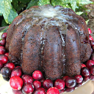 Steamed Cranberry Pudding.