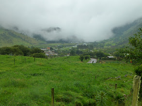 Photo: Looking down on Termas Papallacta from the trail