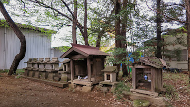 Photo: A line of small shrines behind the main building of Nagara Shrine, Ōizumi, Ōra District, Gunma Prefecture. Read more about Oizumi: http://japanvisitor.blogspot.jp/2015/04/oizumibrazil-in-japan.html