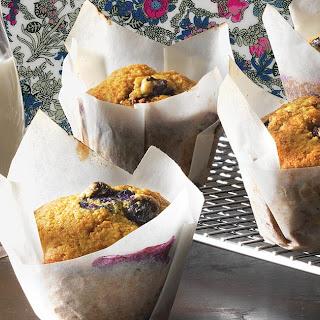 Blueberry Sourdough Muffins.