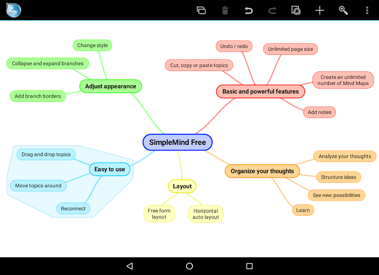 House Mapping Software Simplemind Free Mind Mapping Android Apps On Google Play