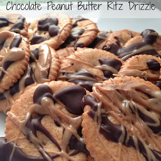 Chocolate Peanut Butter Ritz Drizzles