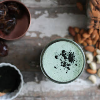 Blue-green Spirulina Milk.