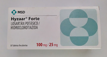 Hyzaar Forte 100/25Mg   Tab. Caja x30Tab. MSD Losartán Hidroclorotiazida
