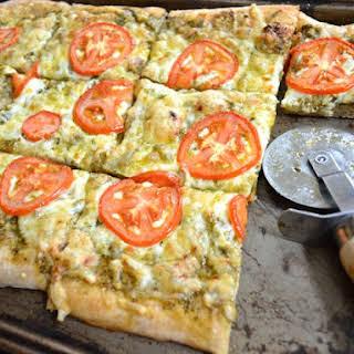 Pesto Focaccia Pizza.