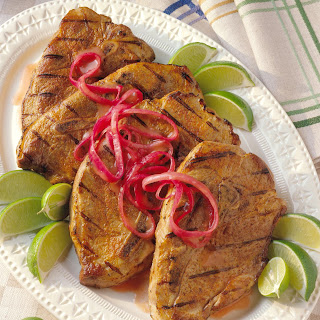 Grilled Yucatacan Pork Steaks.