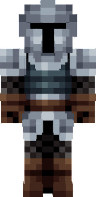 A medieval guard wearing armour, leather gloves and boots, and a helmet. The perfect skin to get into action in a ancient fight or a roleplay!