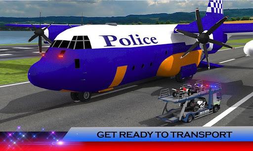 警方飞机转运:摩托