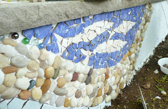 Photo: I use ocean pebbles, glass decorative balls and ceramics tiles.