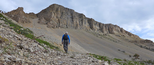 Photo: Getting closer - ended up being a 4.5 mile hike - started hiking at 7 am, above cliffs at 9:30 am