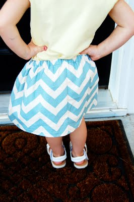 chevron skirt for girls