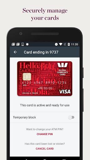 Westpac Global Currency Card  screenshots 4