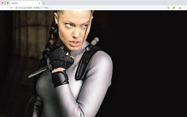 Angelina Jolie New Tab Page HD Stars Themes