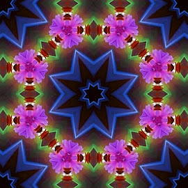 Kaleidoscopic pattern by Gordana Djokic - Illustration Abstract & Patterns ( pink, color, pattern, kaledioscpic, abstract )