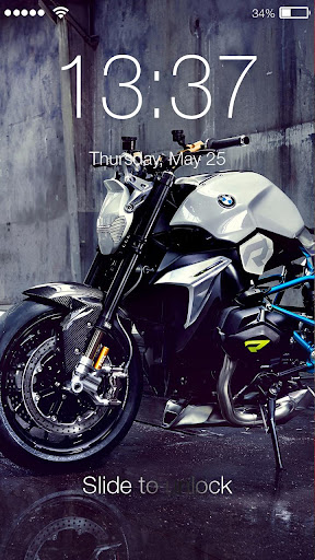 Motorcycle Lock Screen screenshot 3