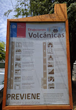 Photo: You can be sure I read this sign carefully. During a 3-day stay the volcano was quiet, but there was a 4.2 magnitude tremor at 3am one night.