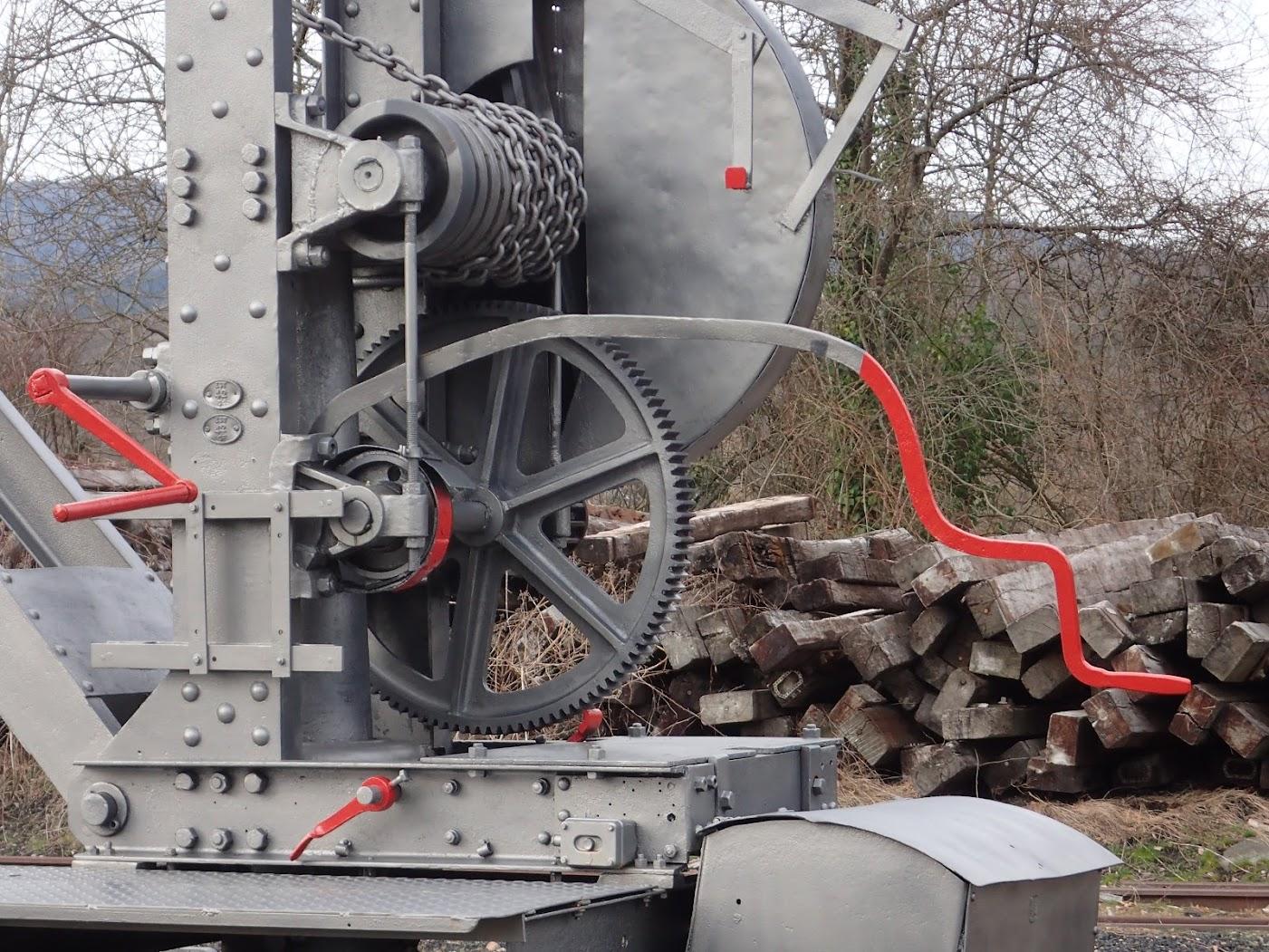 Extraordinaire mécanique ferroviaire. Train de la Doller Sentheim. Admirez la barre de frein