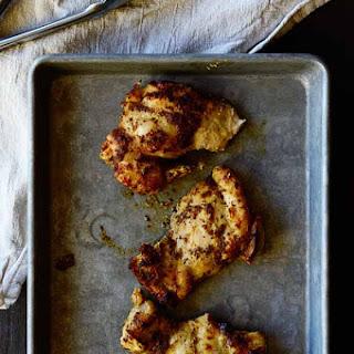 Mustard Baked Chicken Thighs