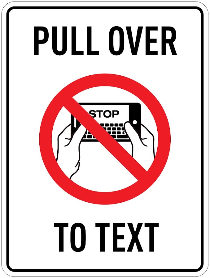 PULL OVER TO TEXT ™- screenshot