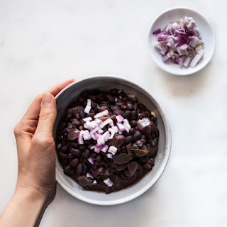 Easy Slow Cooker Cuban Black Beans.