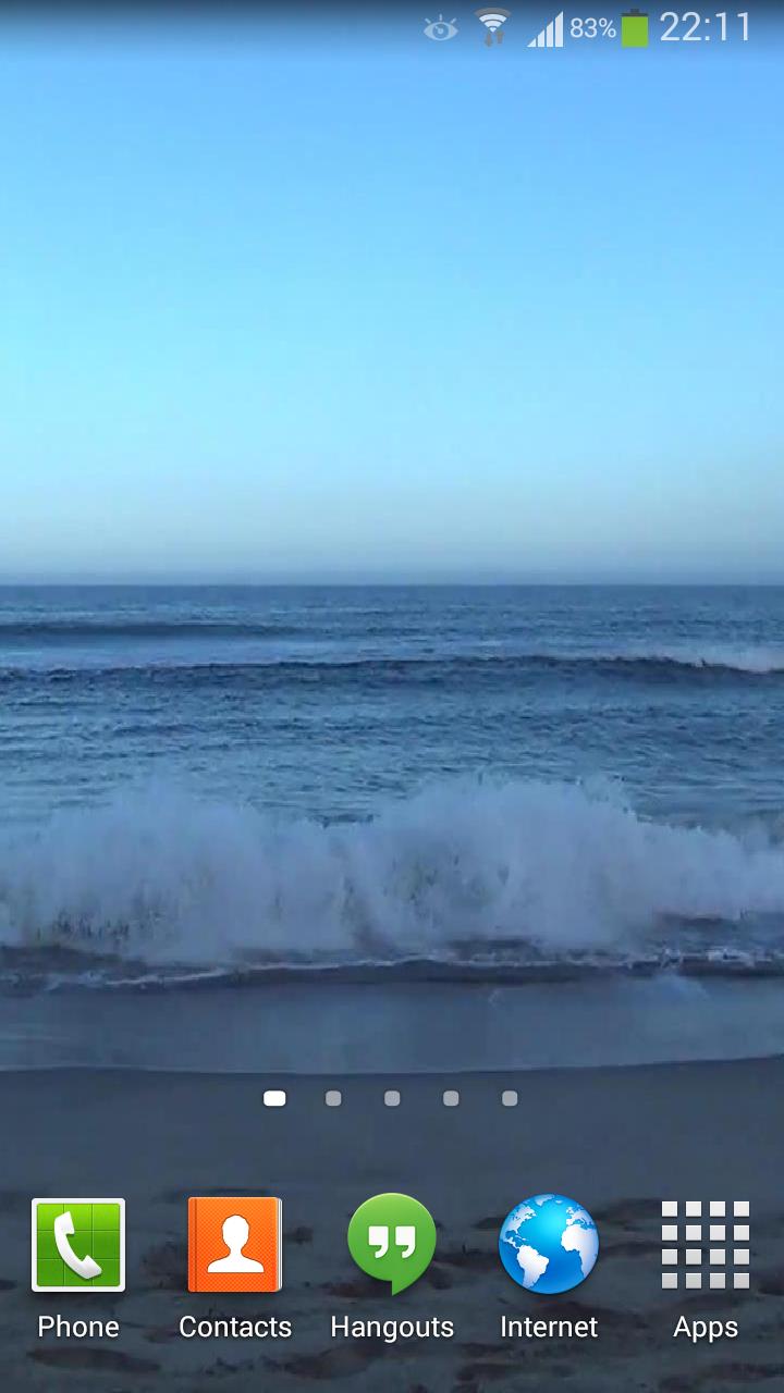 Скриншот Waves Live Wallpaper HD 16