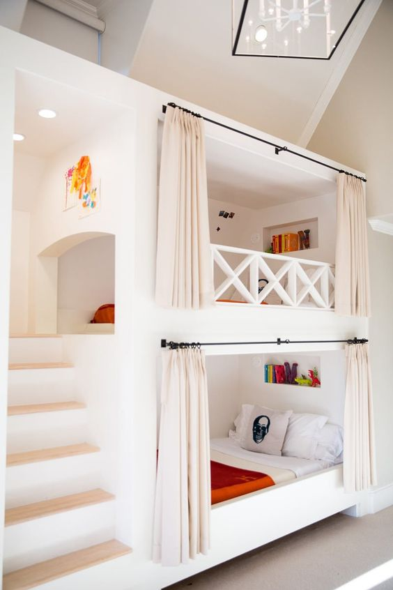 Hanging Curtains on Bunk Bed