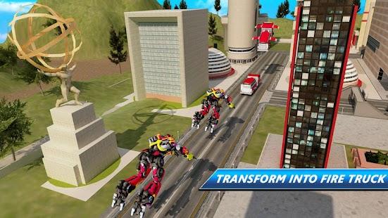 Robot Firefighter Truck Rescue City War - náhled