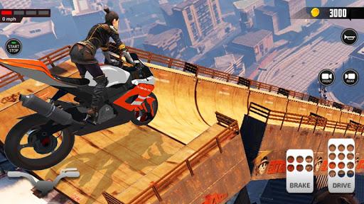 Impossible Mega Ramp Moto Bike Rider Stunts Racing screenshots 8