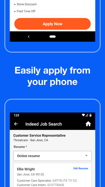 Indeed Job Search Android App Screenshot