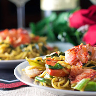 Stir-Fry Lobster & Noodles.