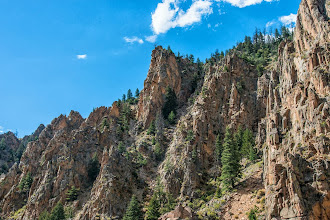 Photo: Cliffs along the Colorado River, near Hot Sulphur Springs, CO