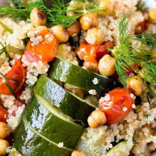 Roasted Chickpeas and Quinoa Veggie Bowl.