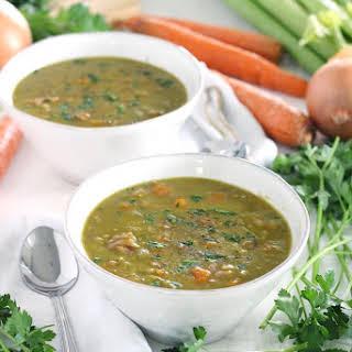 Instant Pot Split Pea Soup (made with a leftover ham bone).
