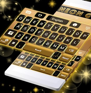Neon Gold GO Keyboard screenshot 4