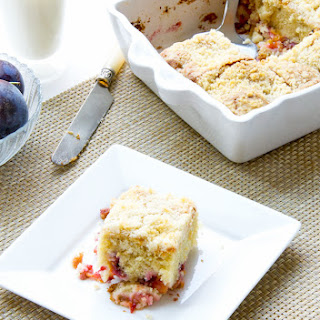 Fresh Plum Coffee cake with Streusel Topping