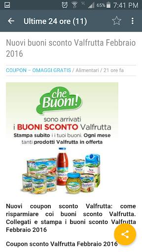 Buoni sconto coupon 2 0 apk by gratis details for Buoni coupon