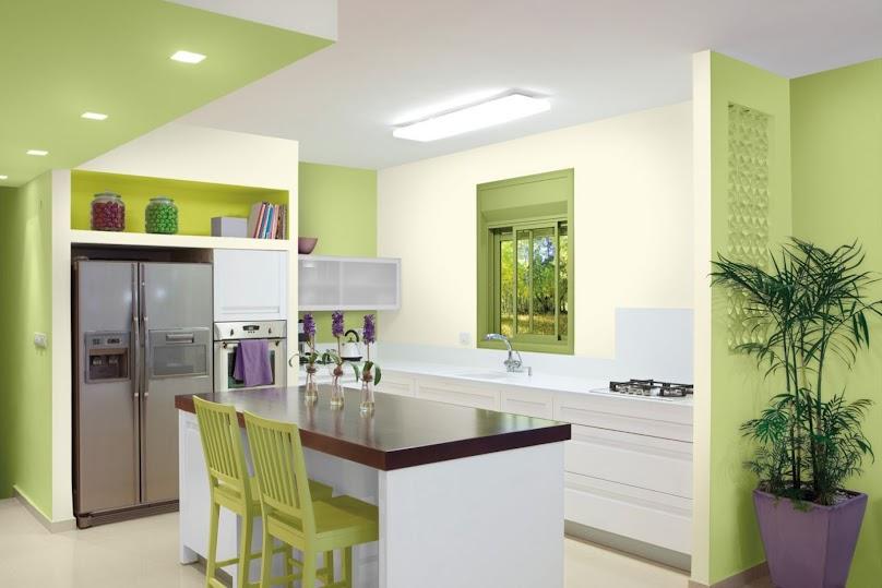 Popularne kolory ścian w kuchni to m.in. zielony i żółty
