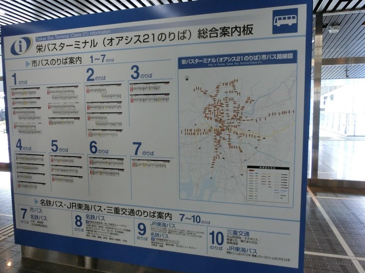 オアシス21バスターミナル総合案内図