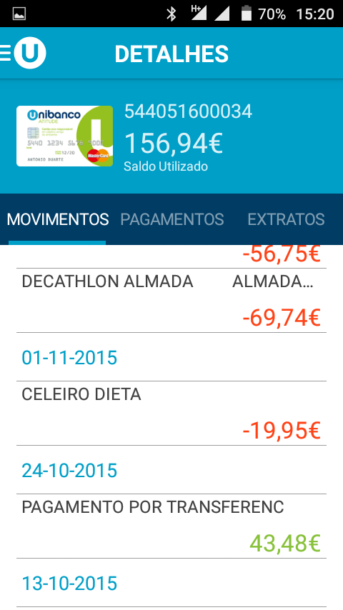 Unibanco Online- screenshot
