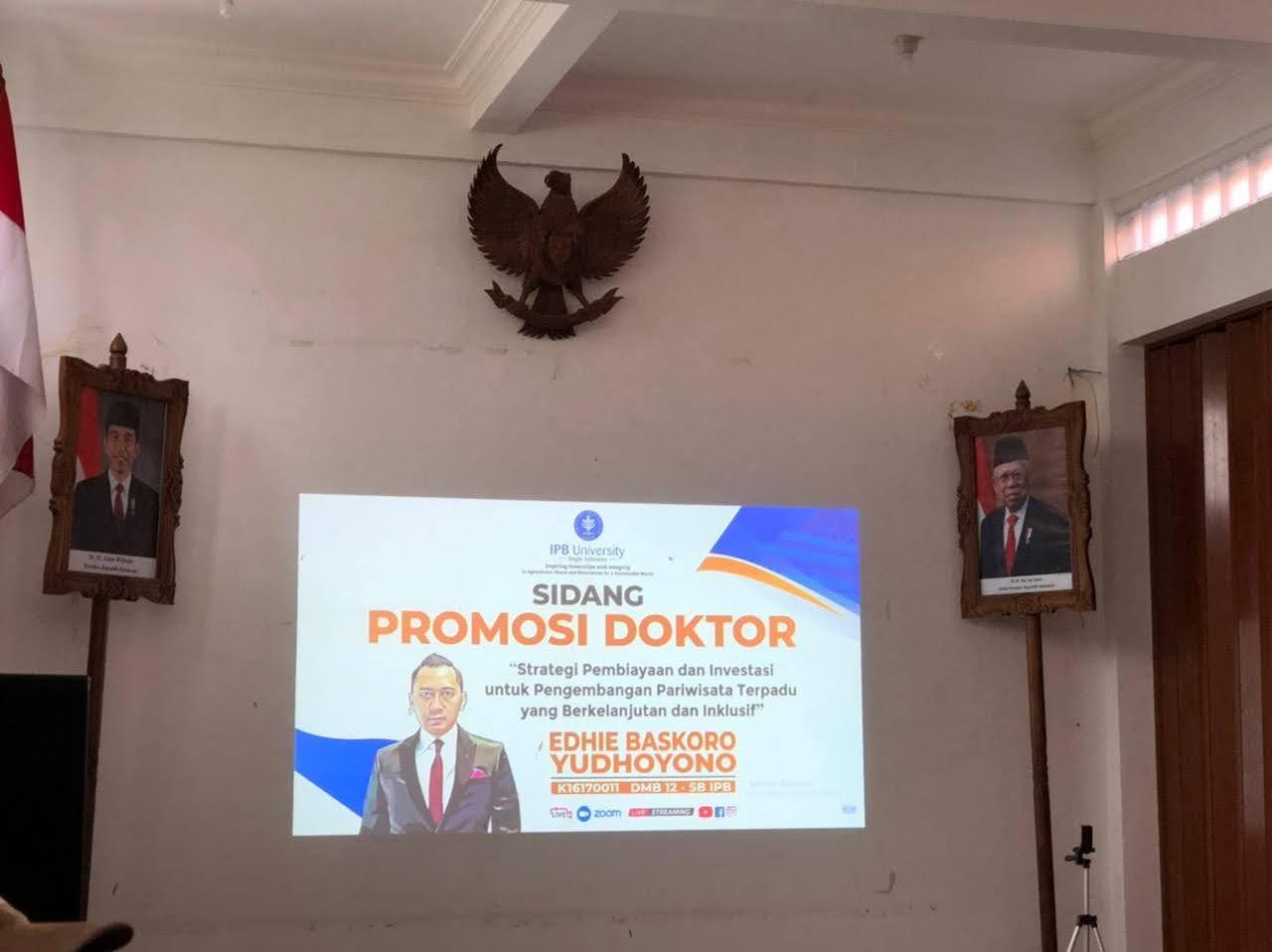 Selamat dan Semoga Sukses EBY Menjalani Sidang Promosi Doktor di Institut Pertanian Bogor Secara Daring