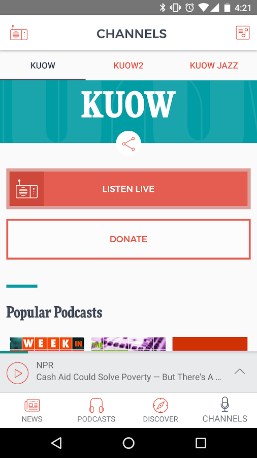 KUOW Puget Sound Public Radio- screenshot