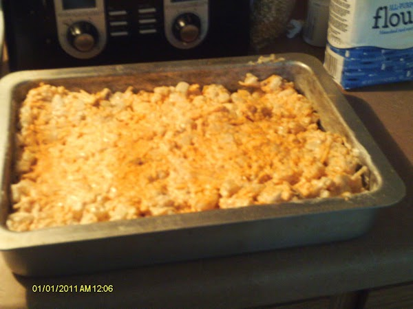preheat oven 400 degrees  Grease a 12x9 Cake pan add mixture sprinkle Lawrys seasoning salt on...