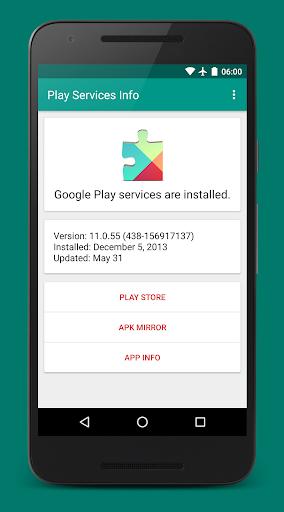 Play Services Info  screenshots 1