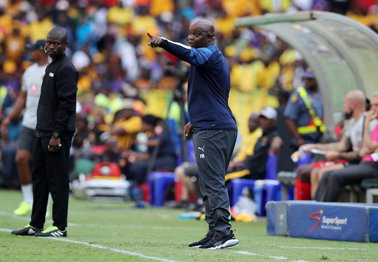 Pitso Mosimane, coach of Mamelodi Sundowns during the Absa Premiership 2019/20 match between Mamelodi Sundowns and Kaizer Chiefs at Loftus Versfeld, Johannesburg, on 27 October 2019.
